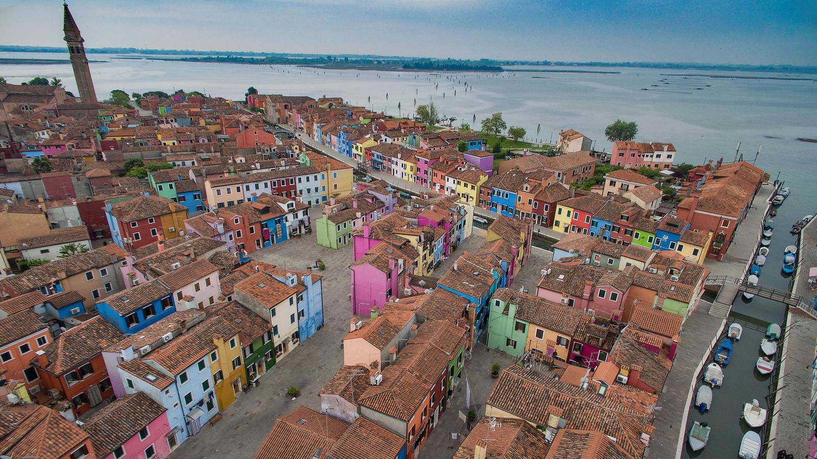 Burano island from above