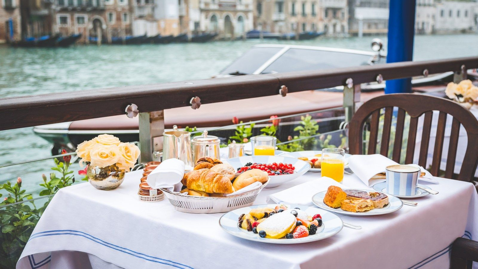 The Gritti Palace Breakfast on the terrace