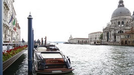 The Riva Yacht in front of The Gritti Palace