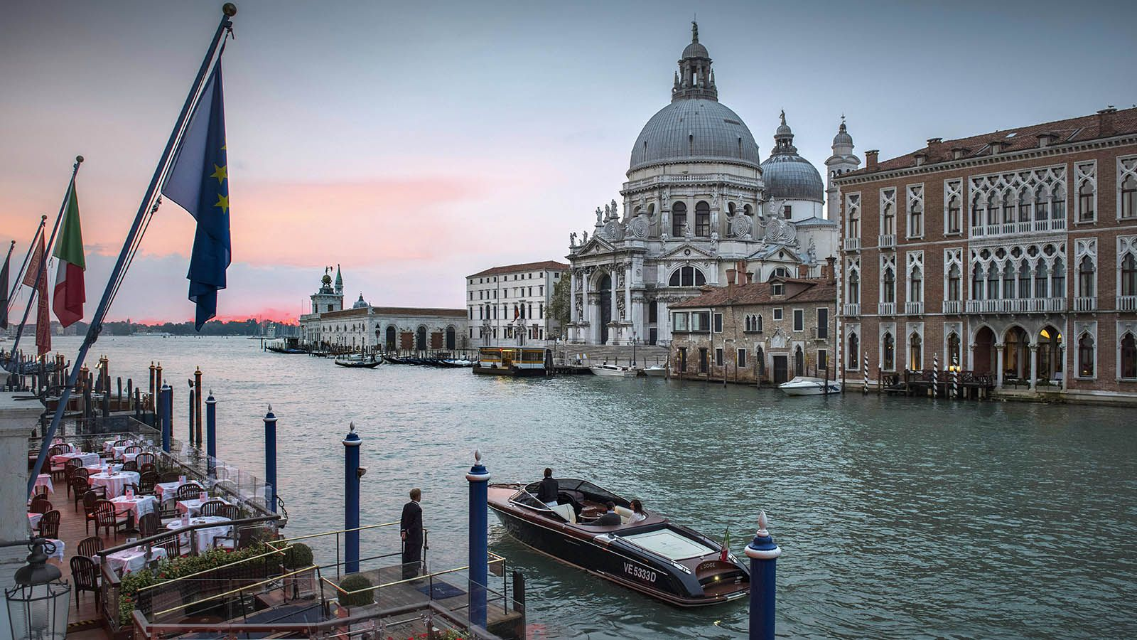 Santa Maria della Salute and the Riva boat
